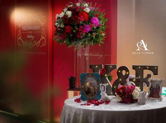 婚禮佈置  婚禮背板  婚佈推薦  Wedding  Arlis Flower 花與空間  萬豪酒店
