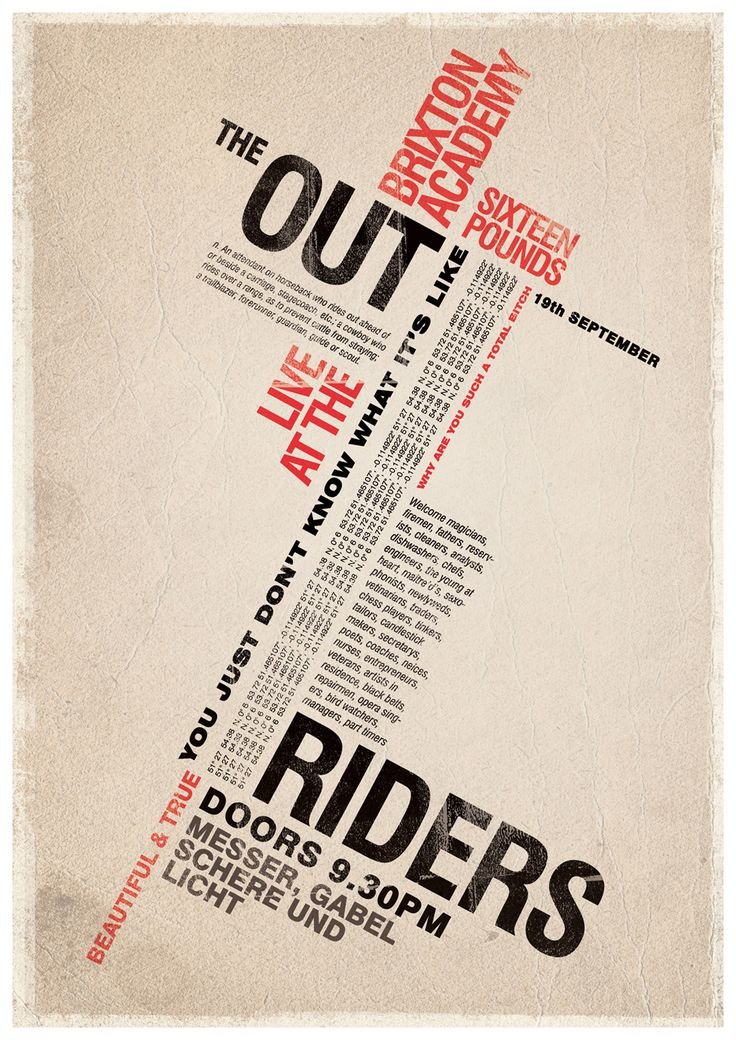 183 best typography posters  type only  images on