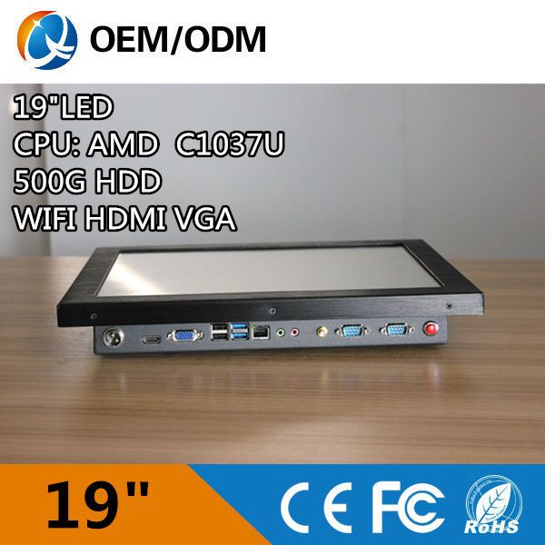 19' industrial pc computer all in one pc touch screen Resolution1280x1024 With C1037U 1.8GHz Installation embedded/ desktop