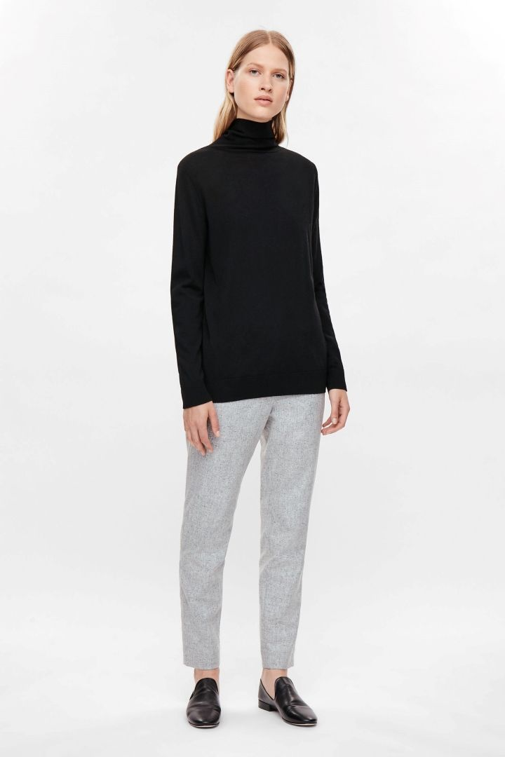COS | Merino jumper with tie knot