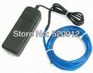 2 М длина 2.3/3.2/4.3 мм EL Провода El/LED свет Электролюминесцентный провод ПРОВОД с 2 шт. АА Батареи Бесплатная доставка