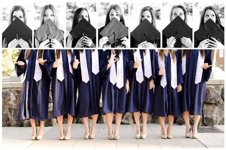 Cute photo idea on graduation day with your Kappa Alpha Theta sisters!