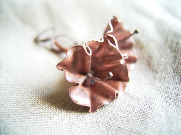 Copper garden - cercei de copper.collection Breslo