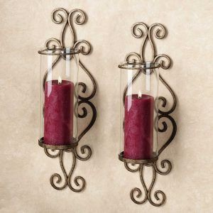 Pink Wall Sconce Candle Holder