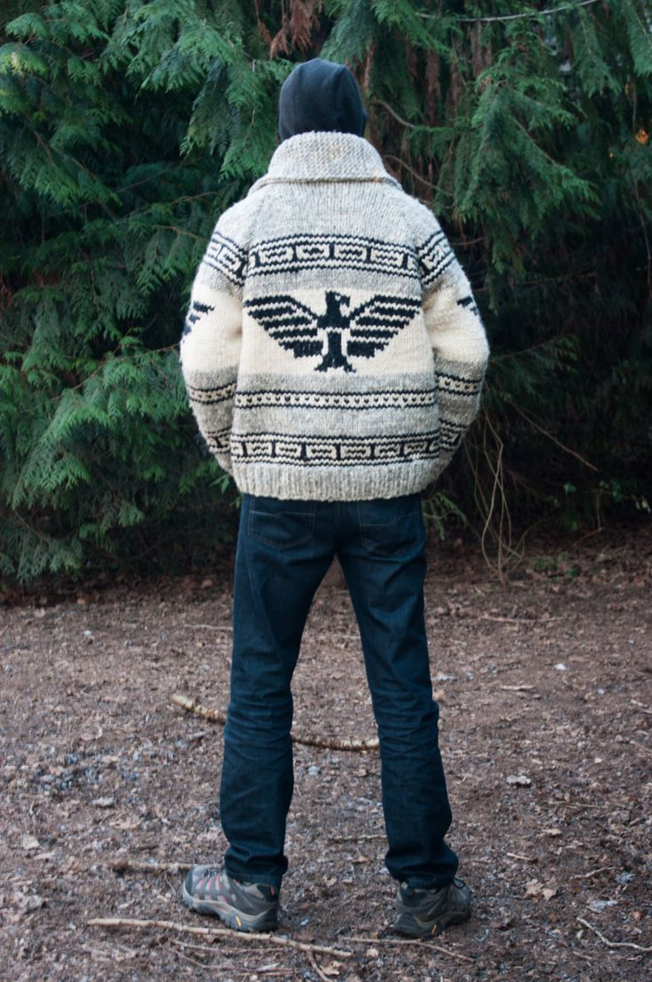 Eagle Cowichan Style Sweater by SitkaKnits on Etsy