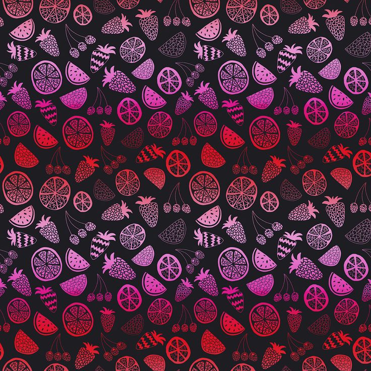 Pink Fruit Removable Wallpaper