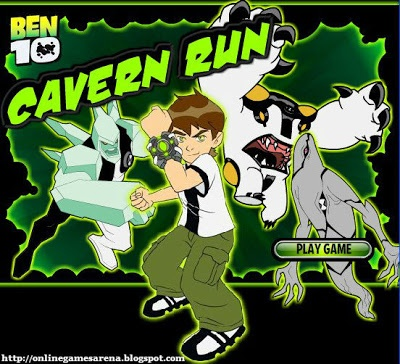 Ben 10 Cavern Run is a nice game amongst ben 10 games online. Ben 10 games are mostly played online, as these games doesnot need to be downloaded.