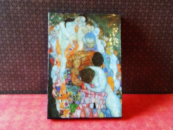 Beautiful Death & Life Gustav Klimt Refrigerator by AlphachicsEDEN, $10.00