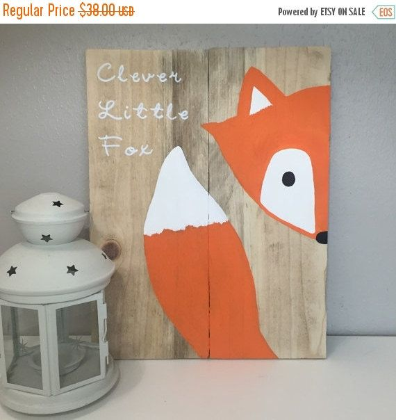 This fox sign is absolutely adorable for a little boy or girls room. I can customize this sign to match the colors of your childs room. If