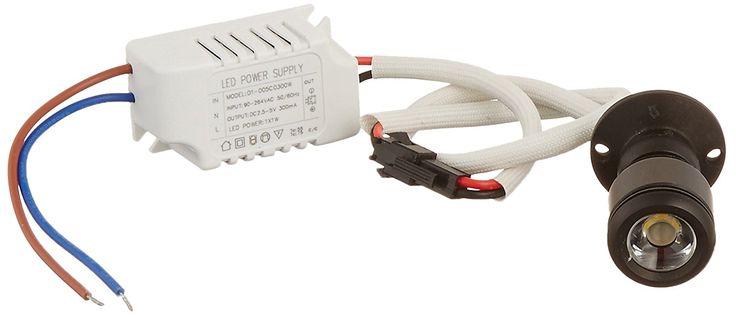 Amazon.com: Micro Pivoting LED Spotlight - 1 Watt High Power Dimmable LED - Tiny Size, Warm White LED: Automotive