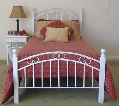 Kidz Bedroom -White King Single Bed For Sale -BNIB