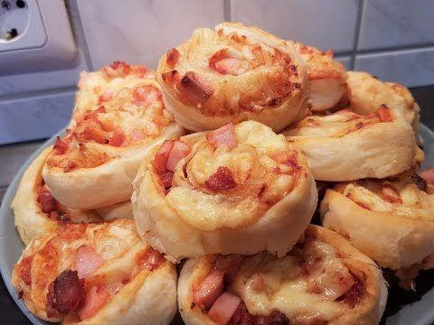 Супер быстрые булочки-пиццы  в слоёном тесте!!! - YouTube