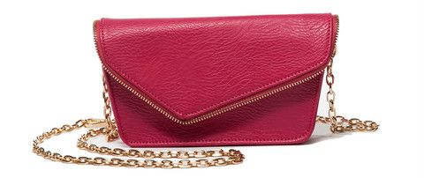 RFID Blocking Moto Fuchsia Belt & Crossbody Bag – Hang Accessories: