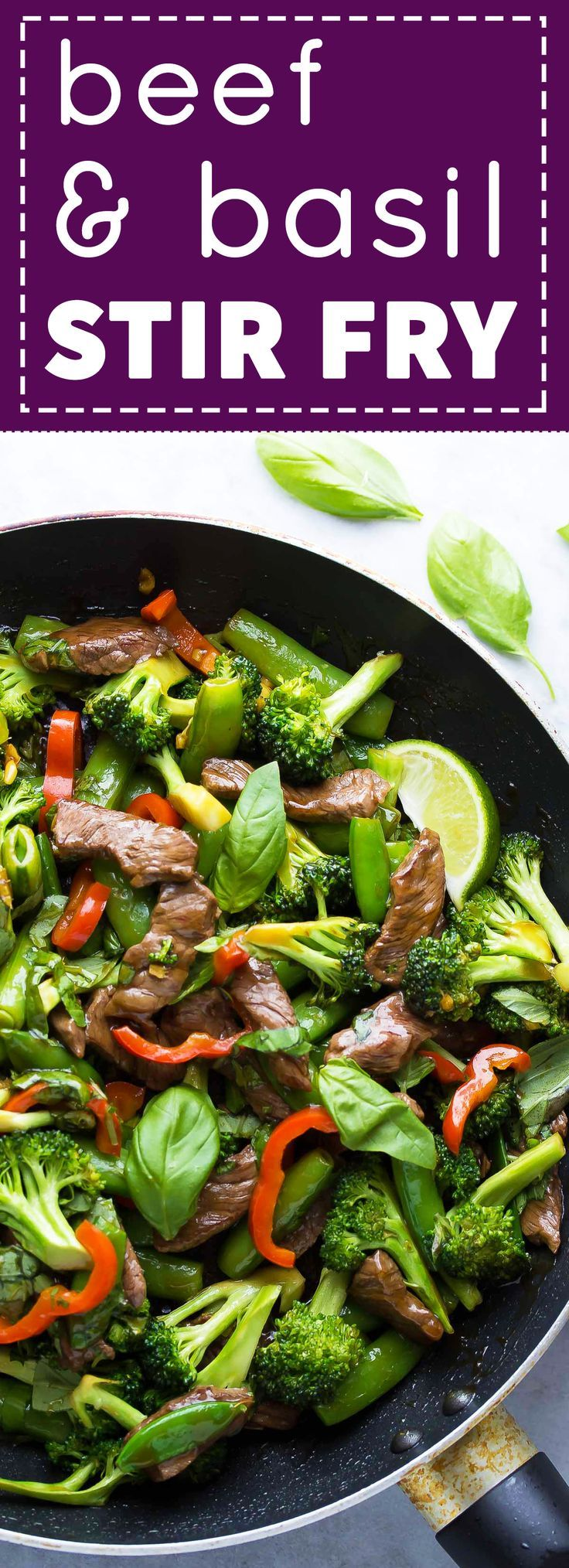 This Thai Lime Beef & Basil Stir Fry is ready in under 30 minutes!