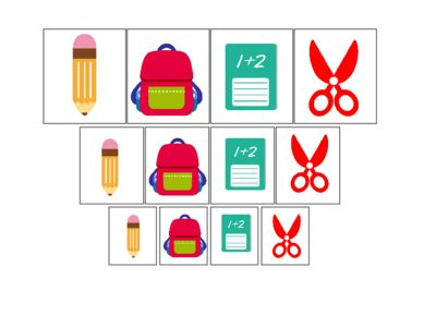 Back To School themed Size Sorting Activity. Preschool, Pre-K, Kindergarten Math Sorting. from teachatdaycare on TeachersNotebook.com -  (2 pages)  - Back To School themed Size Sorting Activity. Preschool, Pre-K, Kindergarten Math Sorting Activity. Sorting By Size.