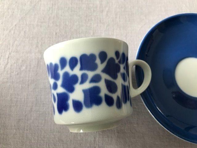 Arabia kahvikuppi ja lautanen, puhalluskoriste, BR-malli - Huuto.net