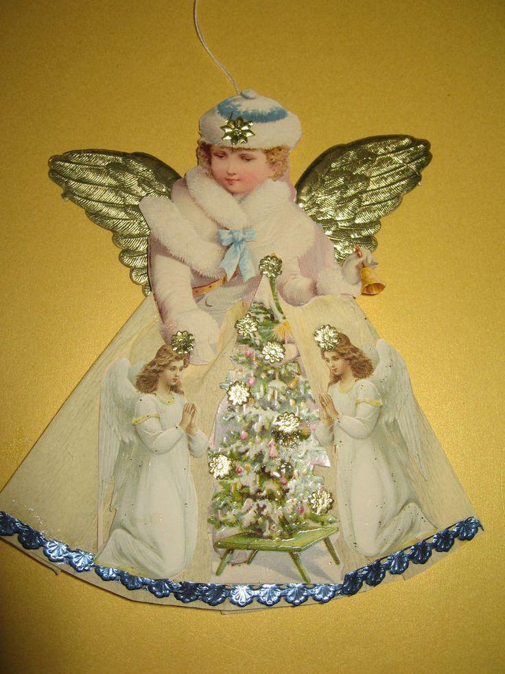 198 best weihnachtsdeko dresdner pappe aus alten glanzbildern scraps paper dolls images on. Black Bedroom Furniture Sets. Home Design Ideas