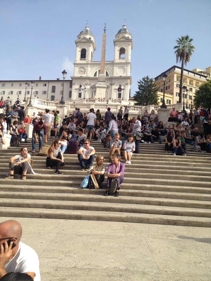 The Spanish steps from Piazza di Spagna built between 1723 to 1725, is the site that Audrey Hepburn ate gelato in Roman Holiday.