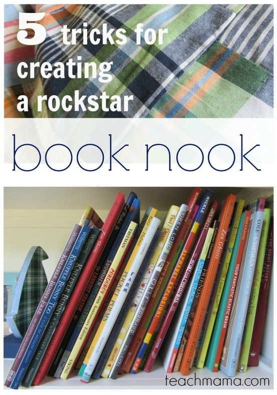 5 tricks for creating a rockstar book nook or reading corner | our own book nook, created for the #booknookchallenge