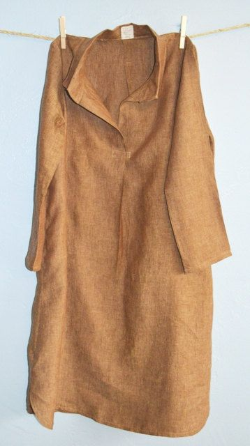Linen Shirt Dress by WrapsRingsandThings on Etsy