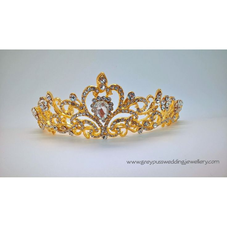 Gold Diamante Bridal Tiara
