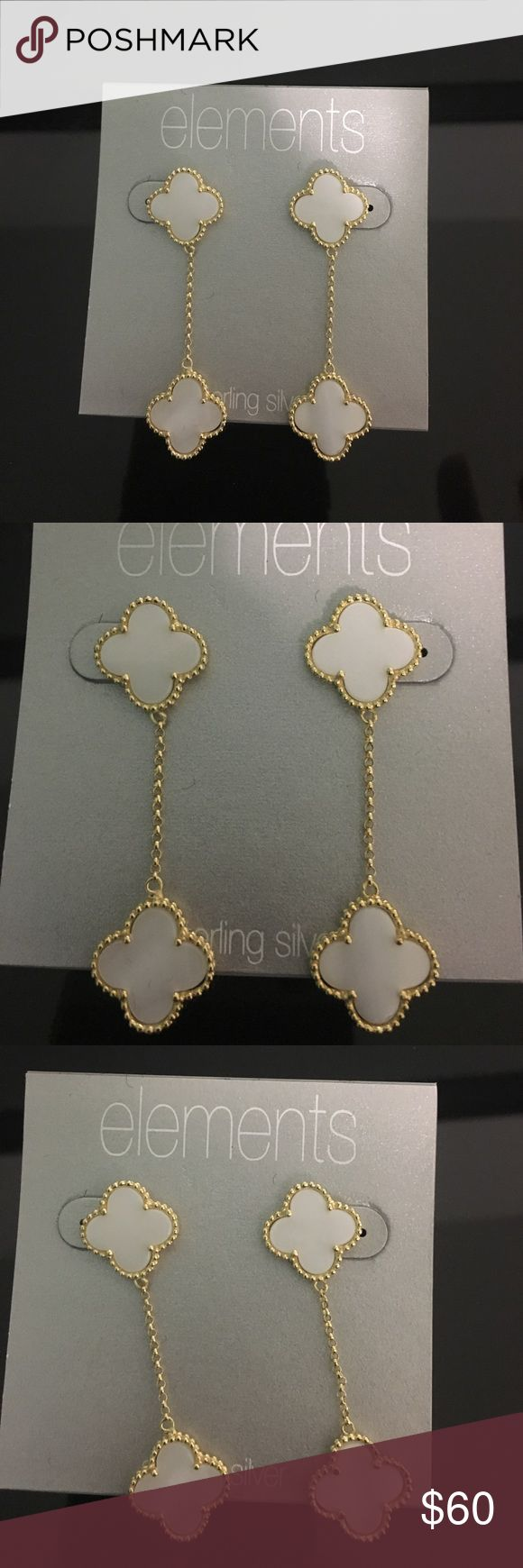 Sterling silver designer look Gorgeous pair of sterling silver gold plated earrings. Brand new never been worn. Looks like the van clef collection. Please note these are not van cleef & Arpel earrings. van cleef & Arpels Jewelry Earrings