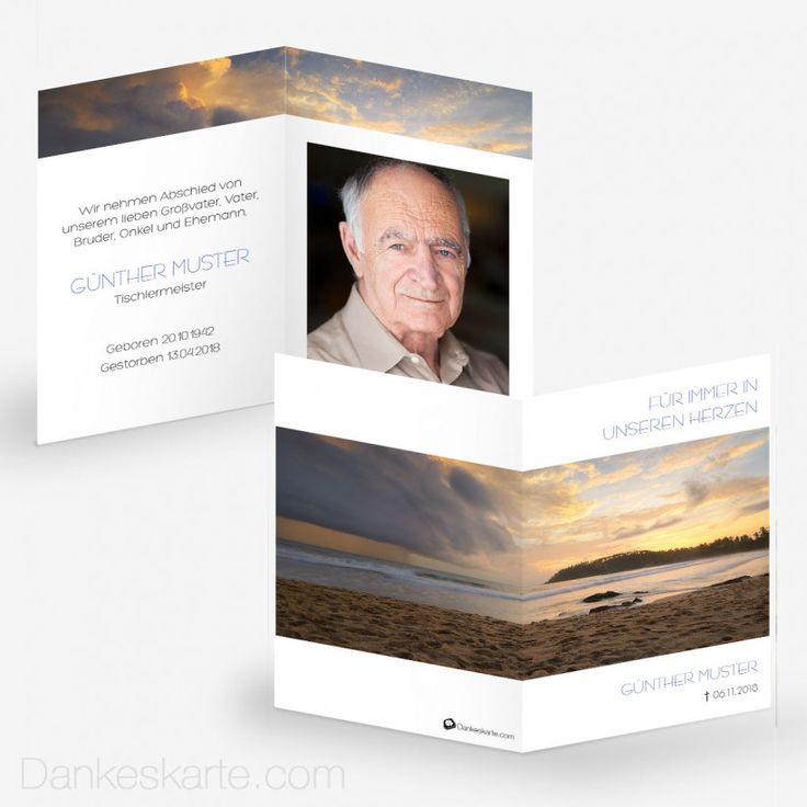 Sterbebild Ewiges Licht 7 x 10 cm - Dankeskarte.com