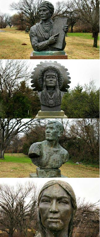 The National Hall of Fame for Famous American Indians in Anadarko features self-guided tours through an awesome statuary garden. There are busts of some of the country's most famous Native Americans including Sequoyah, Pocahontas, Geronimo and more.