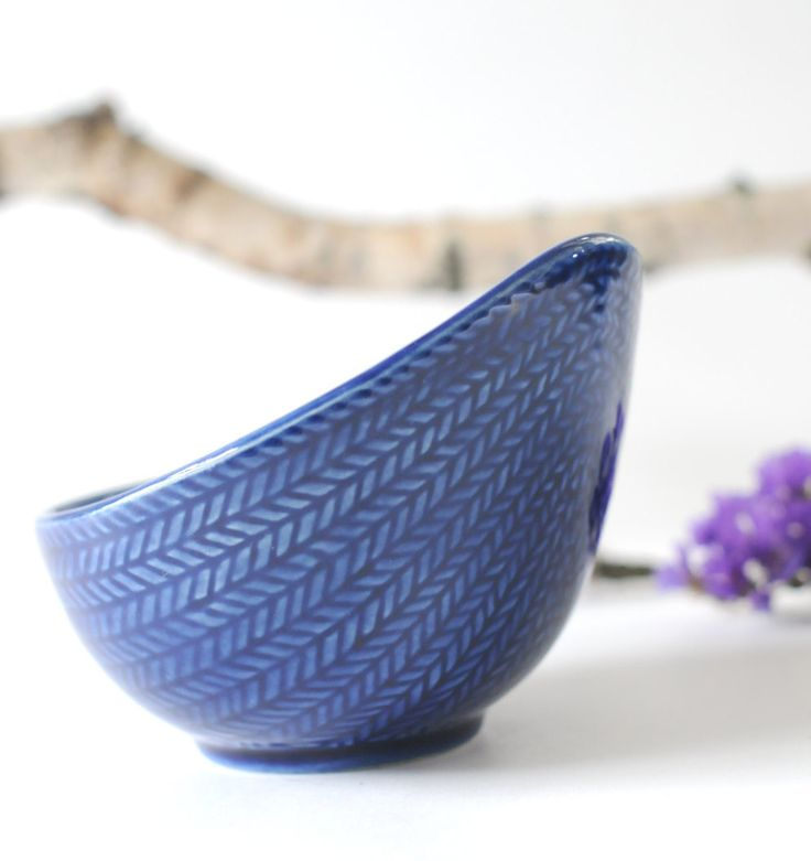 Hertha Bengtson for Rorstrand. Sugar bowl. Blue Fire or Blå Eld. Made in Sweden. Scandinavian Modern by FridasVintage on Etsy