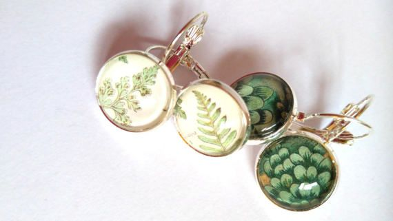 #spring #wood #inspired #green #leaves #leaf #dangling #earrings #mother #daughter #jewelry #love #gift #birthday #mothersday #graduation #sister #friend #girlfriend #aunt #bride #girl  jewelryagnes.etsy.com