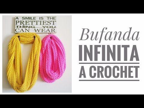 Crochet Infinity Scarf / 3 Tutoriais DIY | Todos crochê