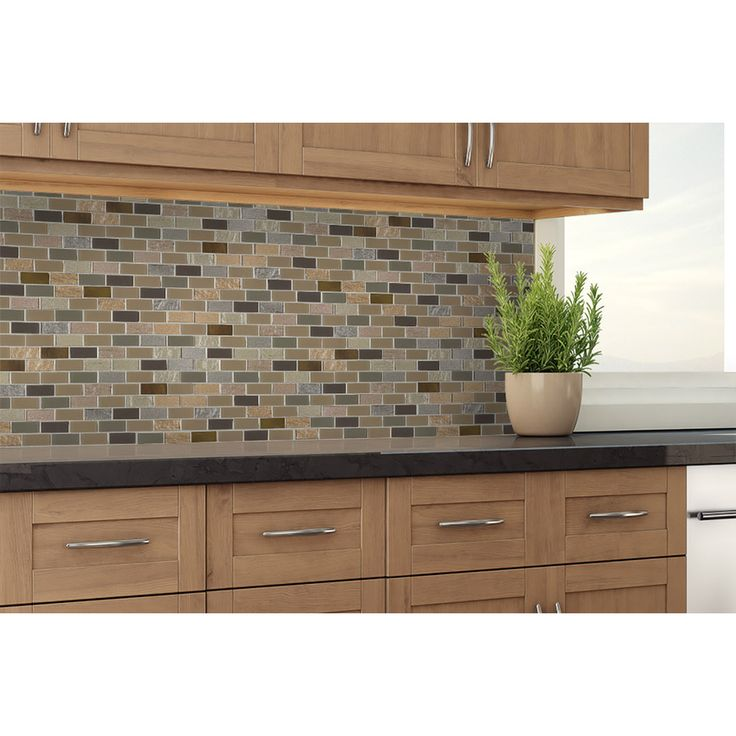 Shop Elida Ceramica Pompeii Mixed Material (Glass and Metal) Mosaic Subway Indoor Only Thinset Mortar Wall Tile (Common: 12-in x 12-in; Actual: 10.75-in x 11.75-in) at Lowes.com
