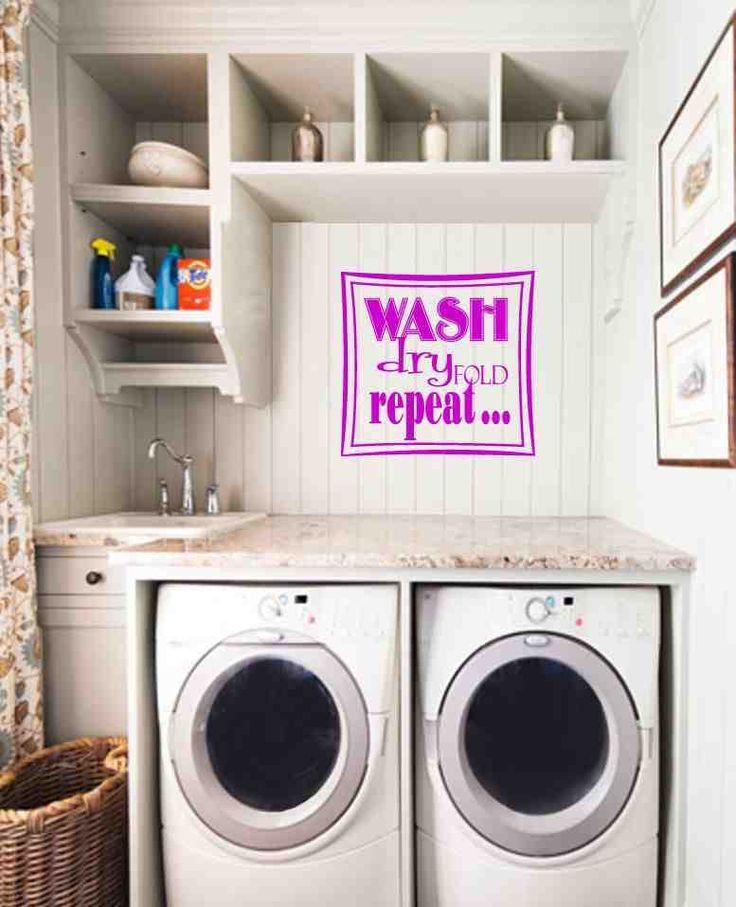 33 best laundry room decor images on pinterest laundry for Laundry room decor accessories