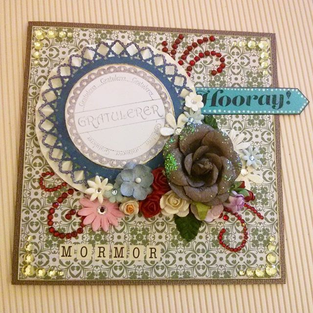Birthday card for my grandmother! #scrapagram #scarpbooking #handmade #papercraft #birthday #grandmother
