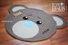 Ravelry: Urso clássico Crochê Tapete Mat Nursery Tapete padrão PDF padrão de por Ira Rott.  /  Ravelry: Classic Bear Crochet Rug Mat Nursery Carpet PDF Pattern pattern by Ira Rott.