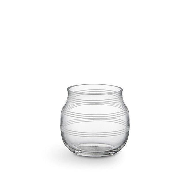 Omaggio Telysholder Clear   Den klare Omaggio-glasstelysholderen har en myk…