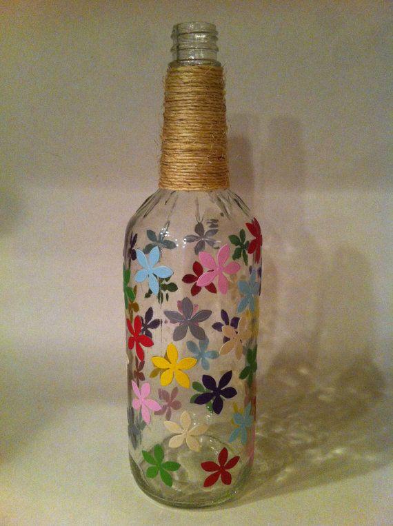 1000 ideas about bottle vase on pinterest wine bottle for Wine bottle flower vase