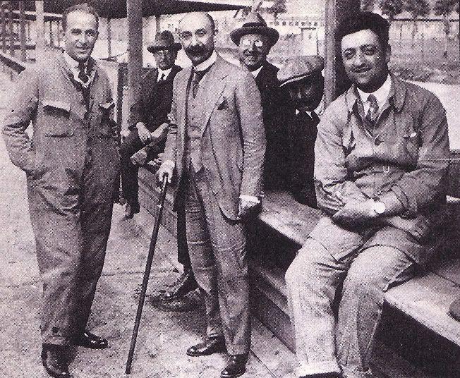 Enzo Ferrari and Nicola Romeo
