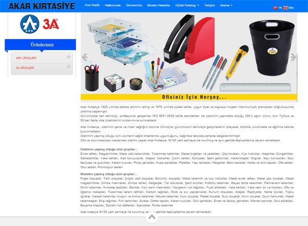 Akar Kırtasiye Web sitesi tasarımı için firmamızı tercih etti  web tasarım http://www.akwebtasarim.com/v2/hizmetlerimiz/tasarim-hizmeti/web-tasarim.html
