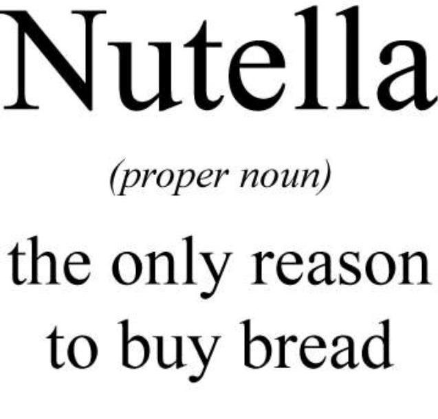 people buy bread for other reasons?