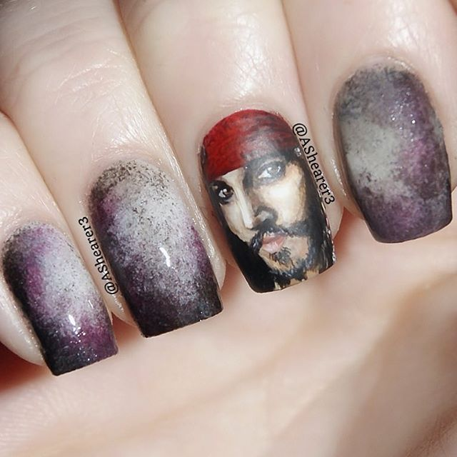 75 best awesome nail art images on pinterest halloween nails instagram media ashearer3 captain jack sparrow nail nails nailart prinsesfo Choice Image