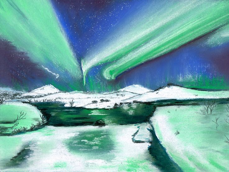 The Northern Lights Pastel