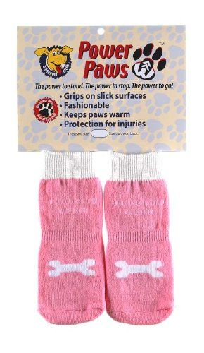 Power Paws, traction socks for dogs, M Pink w/ white Bone -- You can get more details by clicking on the image.