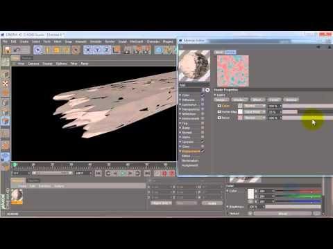 Cinema 4D tutorial: wood destruction