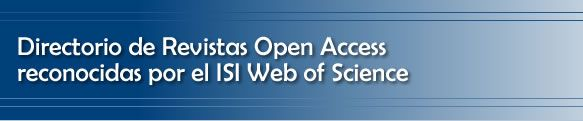 BUSCADOR DE REVISTAS OPEN ACCESS RECONOCIDAS POR EL ISI WEB OF SCIENCE