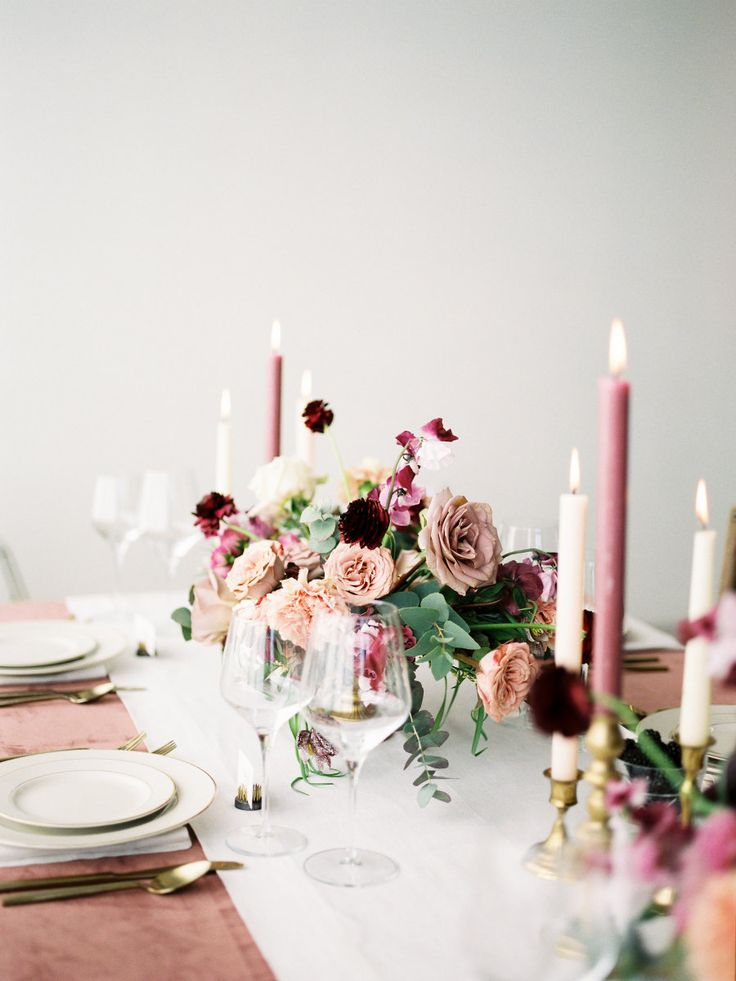 La Tavola Fine Linen Rental: Velvet Blush with Tuscany Eggshell Table Runner and Napkins | Photography: Jamie Rae Photo, Design, Styling & Florals: Swoon Floral Design, Specialty Rentals: Something Borrowed Portland, Paper Goods: Letters & Dust, Tabletop & Chair Rentals: Barclay Event Rentals,