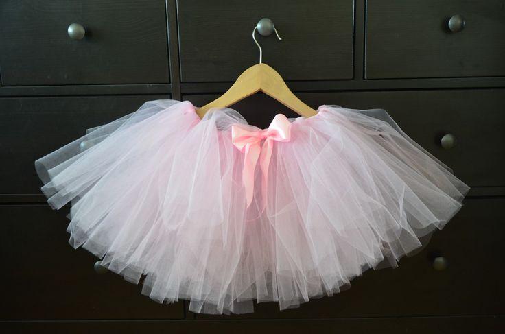 różowo-białe tutu