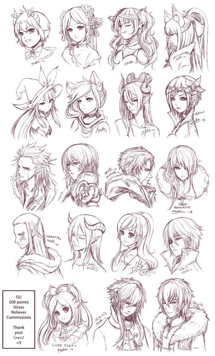 Drawing Hairstyles For Your Characters Art Reference Manga Hair Manga Hair Art Drawings Sketches Anime Drawings