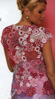 Blusa em Crochet Russo