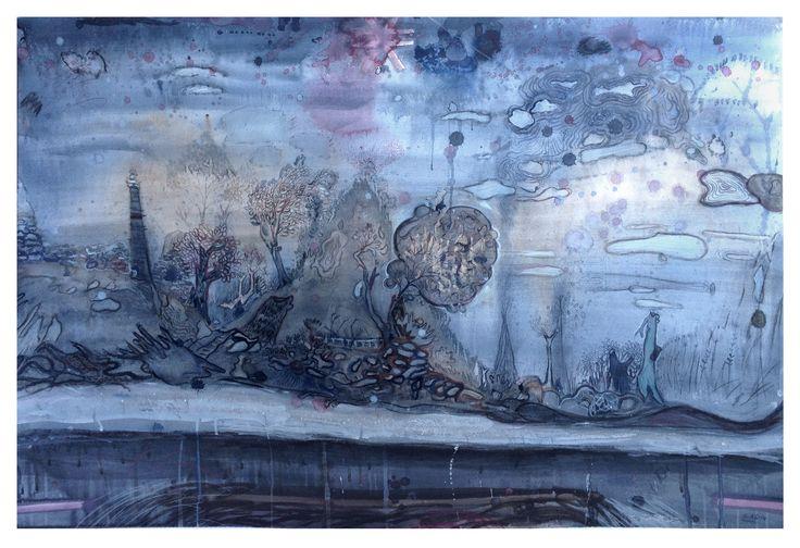 # Watercolor #Colorful Art #Painting #ocean painting #grey